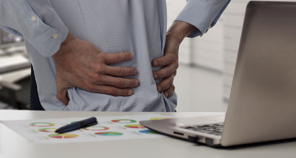 Back pain at desk